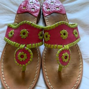 Jack Rogers 7 pink and green